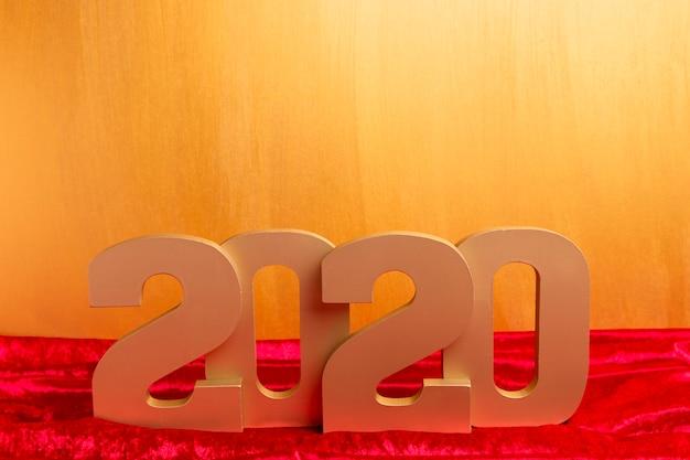 Número do ano novo chinês com espaço de cópia