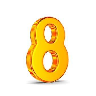Número oito no espaço em branco