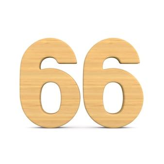 Número sessenta e seis em fundo branco.