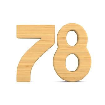 Número setenta e oito em fundo branco.