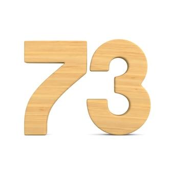 Número setenta e três em fundo branco.