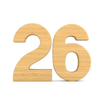 Número vinte e seis em branco