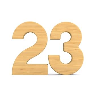 Número vinte e três em branco