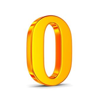 Número zero no espaço em branco