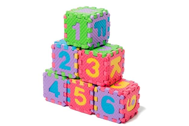 Números de quebra-cabeça de espuma