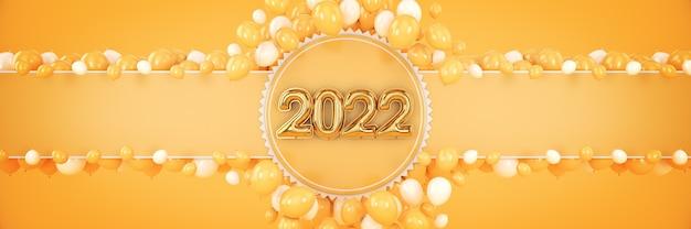 Números para o feliz ano novo de 2022 balões de hélio números de folha de números de natal de 2022 balões