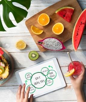 Nutrição 100% natural, alimentação saudável, vida