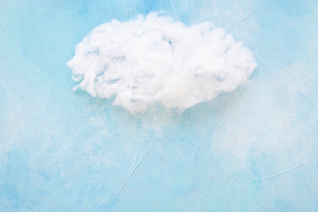 Nuvem branca, contra, azul, fundo