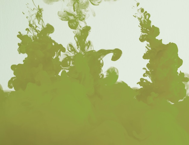 Nuvem cáqui verde abstrata de neblina