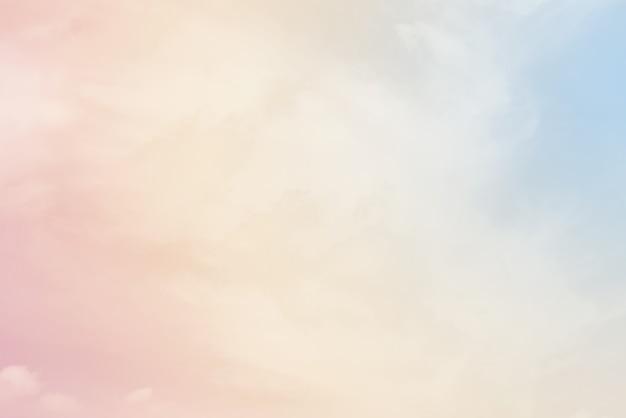 Nuvem com uma cor pastel