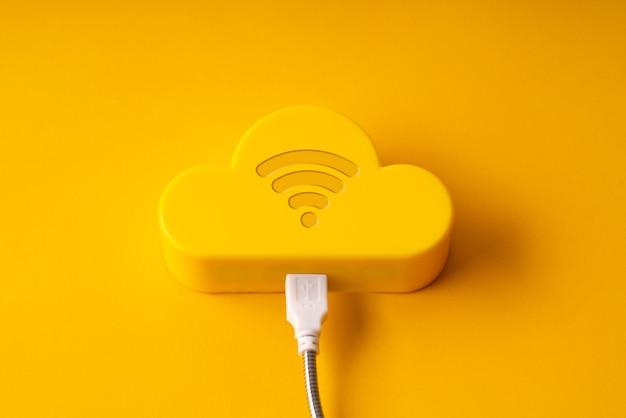 Nuvem de tecnologia colorida e criativa para o conceito de negócio global