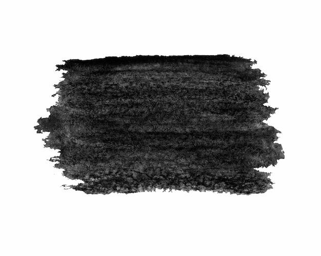 Nuvem grunge pintada de preto isolada no branco