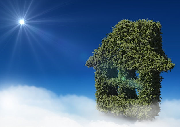 Nuvem móvel ambiente hipoteca brilhante