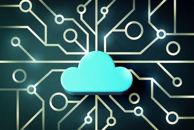 Nuvem na ilustração abstrata do mainboard