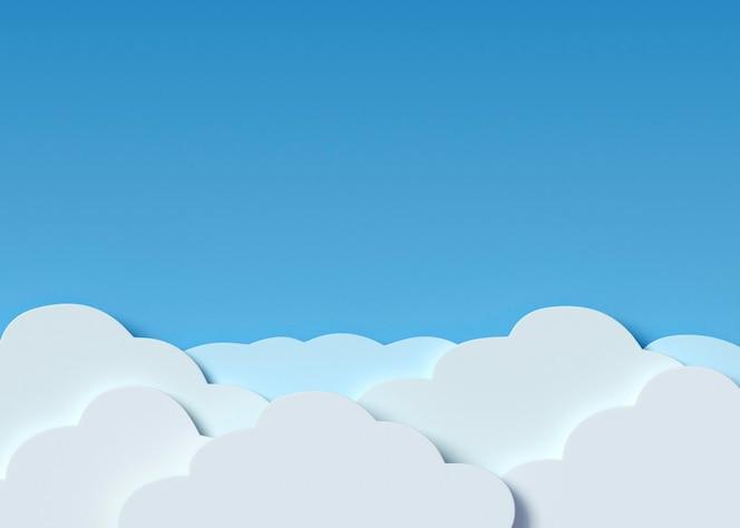 Nuvens brancas e fundo azul