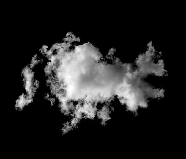 Nuvens brancas em fundo preto