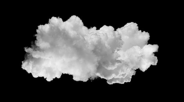 Nuvens brancas isoladas em preto