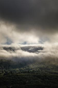 Nuvens brancas no céu