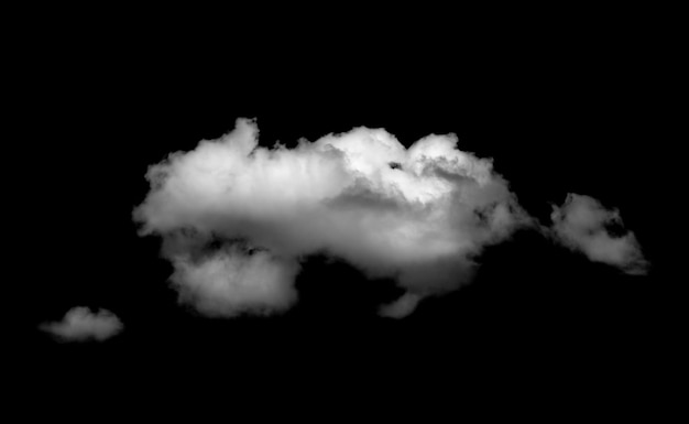 Nuvens brancas sobre fundo preto