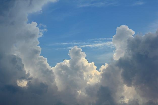 Nuvens cinzentas no céu antes da chuva