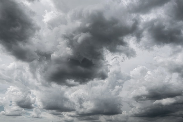 Nuvens de tempestade escuras antes da chuva usada para o fundo do clima.