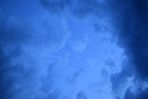 Nuvens do céu antes do temporal