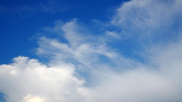 Nuvens do céu azul claro dia nuvem paisagem