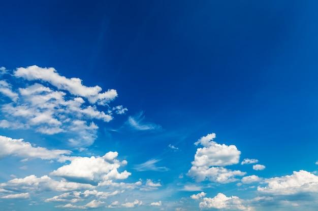 Nuvens do céu, céu com nuvens e sol