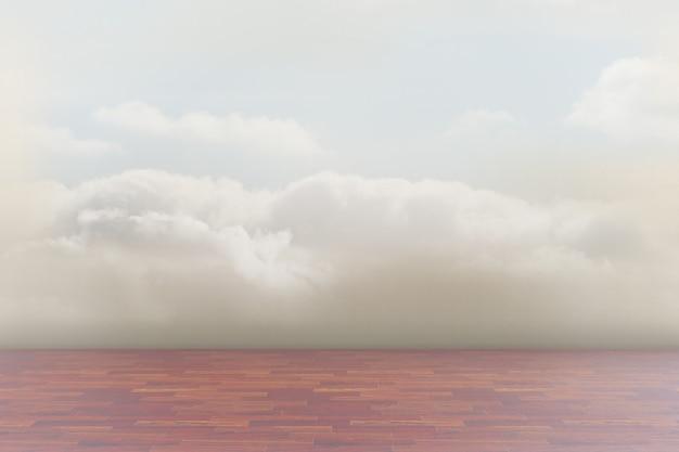 Nuvens em um quarto