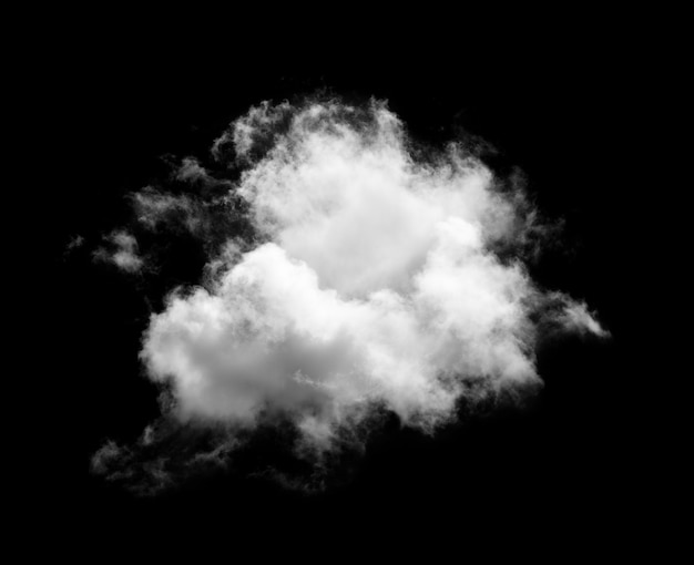 Nuvens isoladas em fundo preto