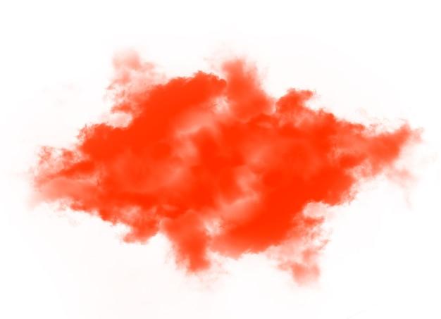 Nuvens ou fumaça laranja isolada no fundo branco
