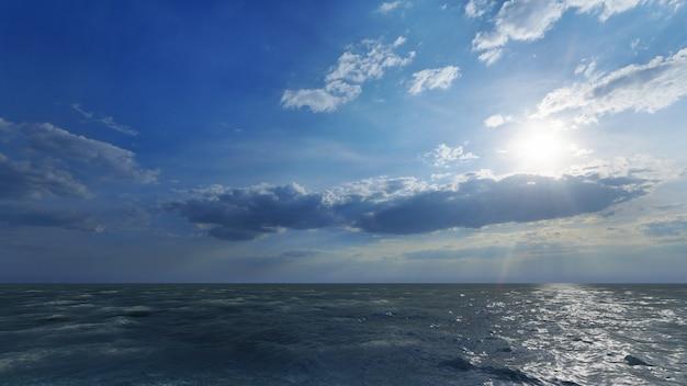 Nuvens sobre o mar