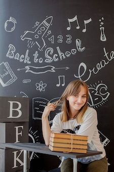 O aluno é contra o quadro-negro com
