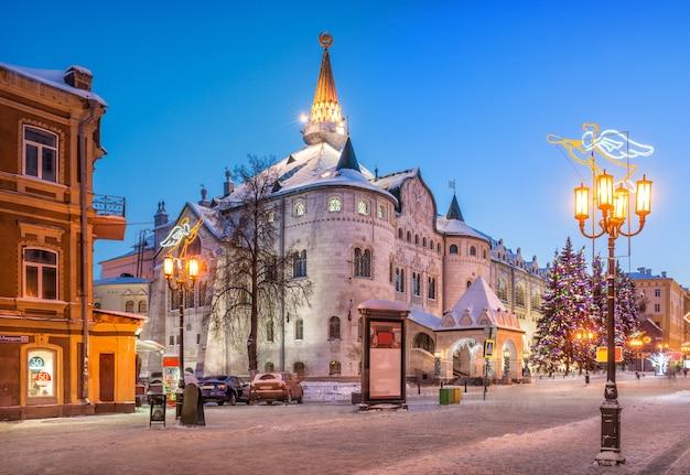 O antigo edifício do banco do estado em nizhny novgorod