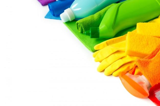 O arco-íris ajustou-se para a limpeza brilhante da mola na casa.