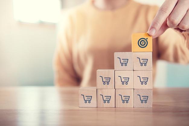 O aumento do volume de vendas torna a meta de negócios um sucesso
