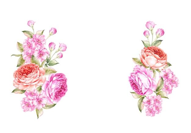 O buquê de flores da primavera.