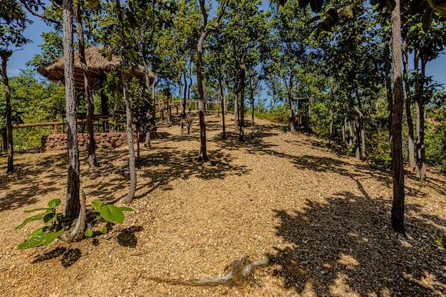 O caminho para o grand canyon de pha chor, na província de chiang mai, tailândia