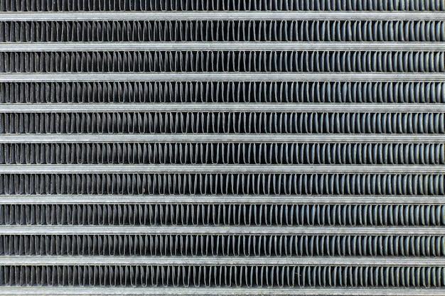 O carro de ar condicionado bobinas fechar fundo