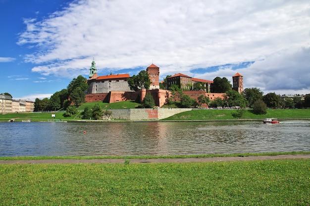 O castelo em cracóvia, polônia