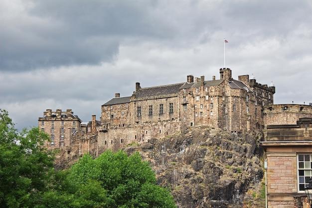 O castelo em edimburgo, escócia, reino unido
