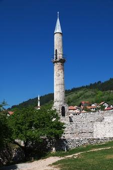 O castelo em travnik, bósnia e herzegovina