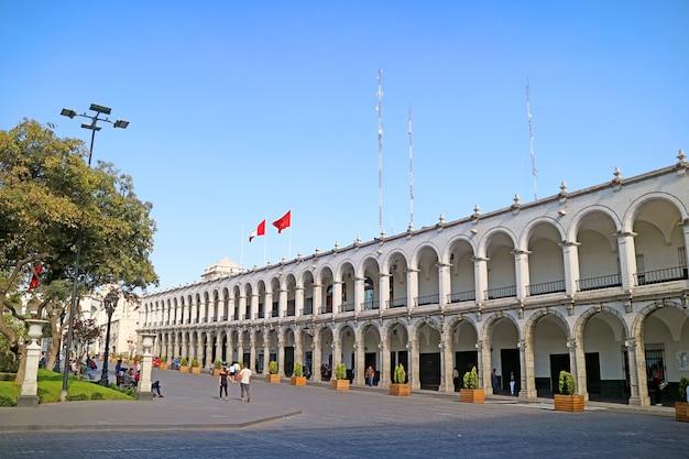 O centro histórico de arequipa, patrimônio mundial da unesco da cidade de arequipa, peru