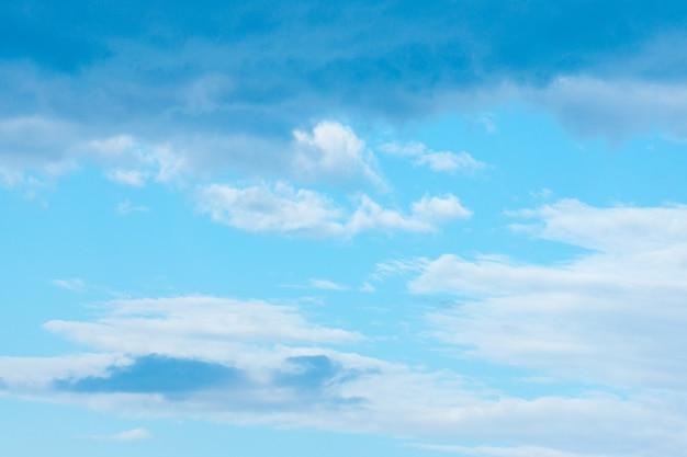 O céu nas nuvens