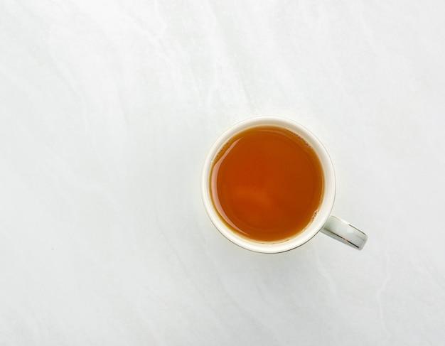 O chá é uma vista superior