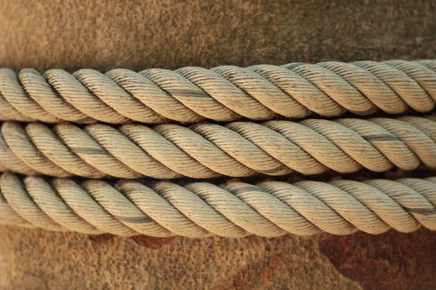 O close do nó da corda