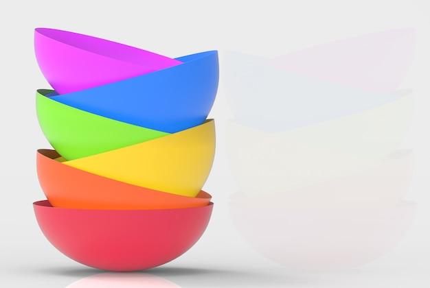 O conceito da cor do arco-íris do lgbtq sobrepõe bacias no fundo do cinza do espaço da cópia.