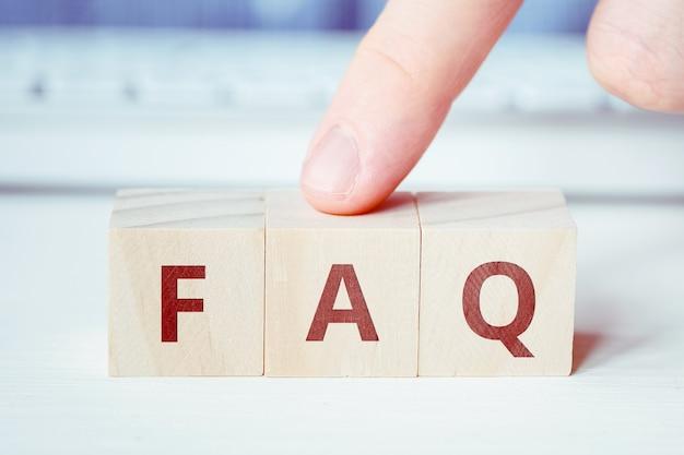 O conceito da resposta correta às perguntas mais frequentes.