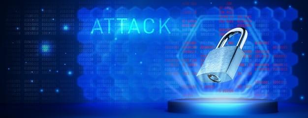 O conceito de ataque a sistemas informáticos. hacking eleições. conceito de um ataque de hacker a sistemas de informação e computador. Foto Premium