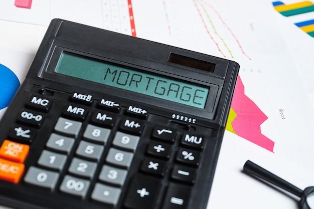 O conceito de calcular o custo de uma hipoteca para compra de casa.